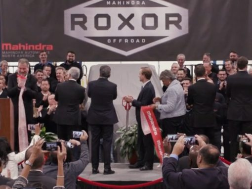 Mahindra Ribbon Cutting