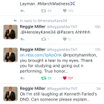 Reggie Miller ReTweet